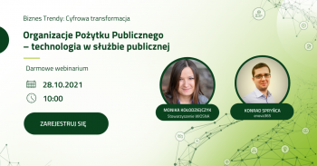 Webinarium online: Organizacje Pożytku Publicznego – technologia w służbie publicznej